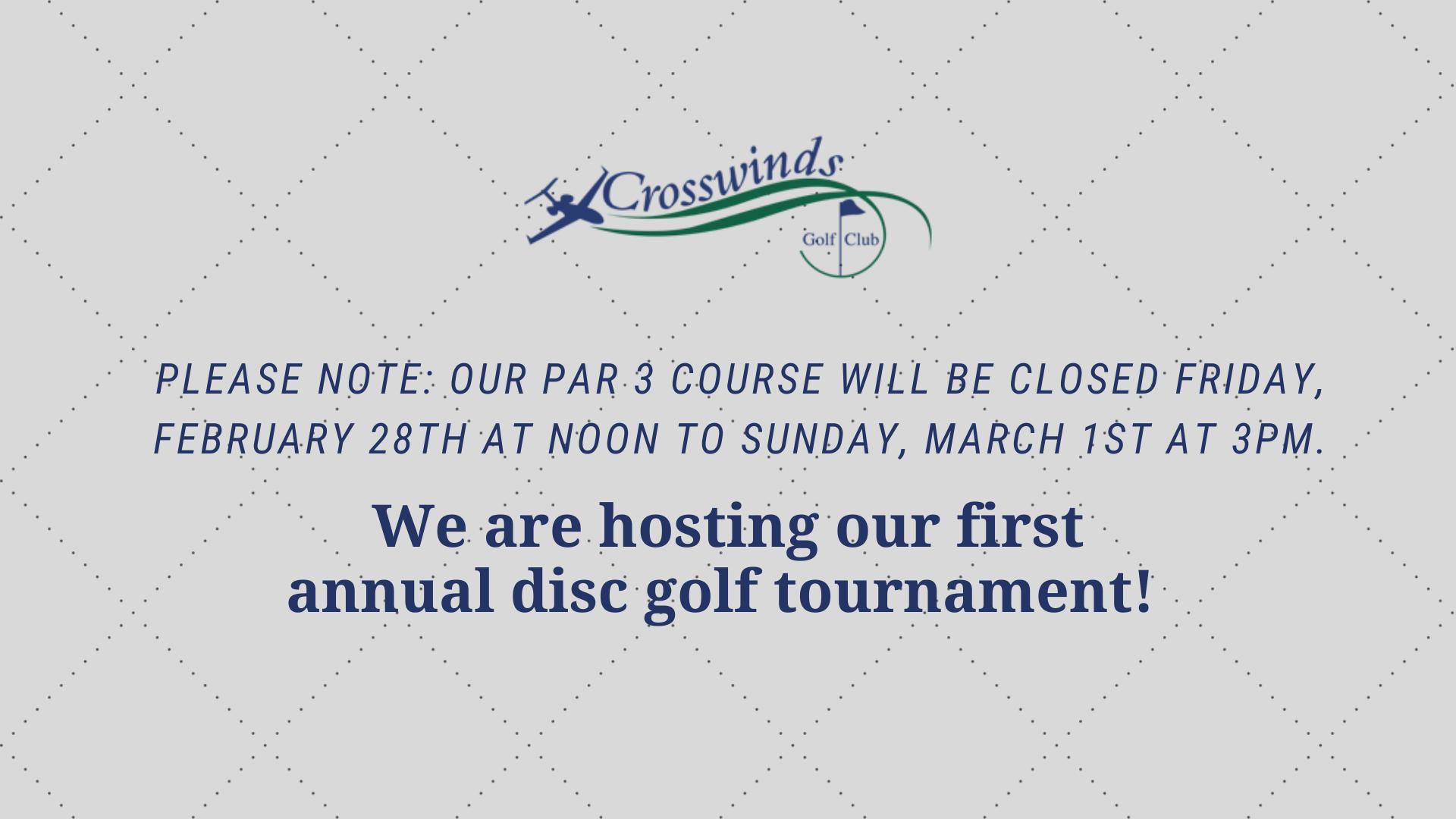Disc Golf Announcement